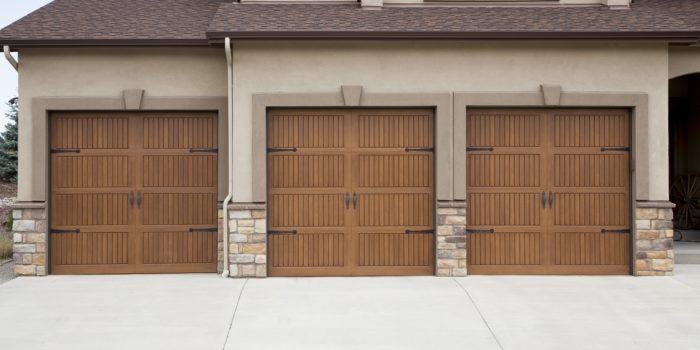 Oak Garage Doors made of Fiberglass
