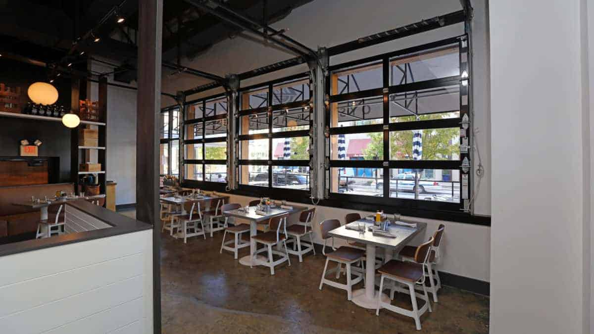 glass garage doors restaurant. Modren Restaurant Aluminum Glass Garage Doors In Restaurant G