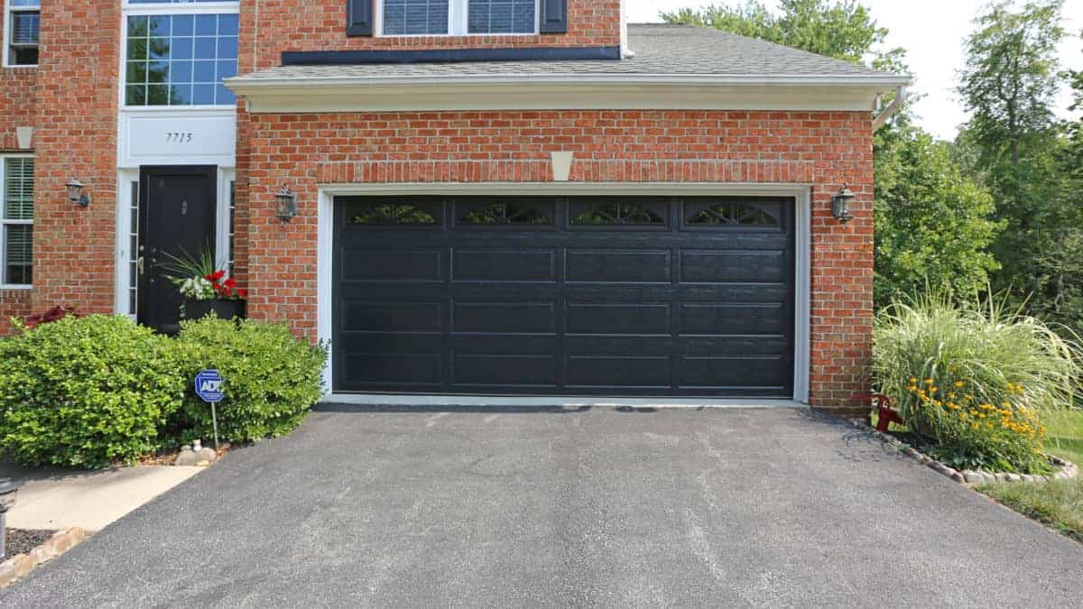 Insulated Thermacore Garage Door Black Long Panel Design